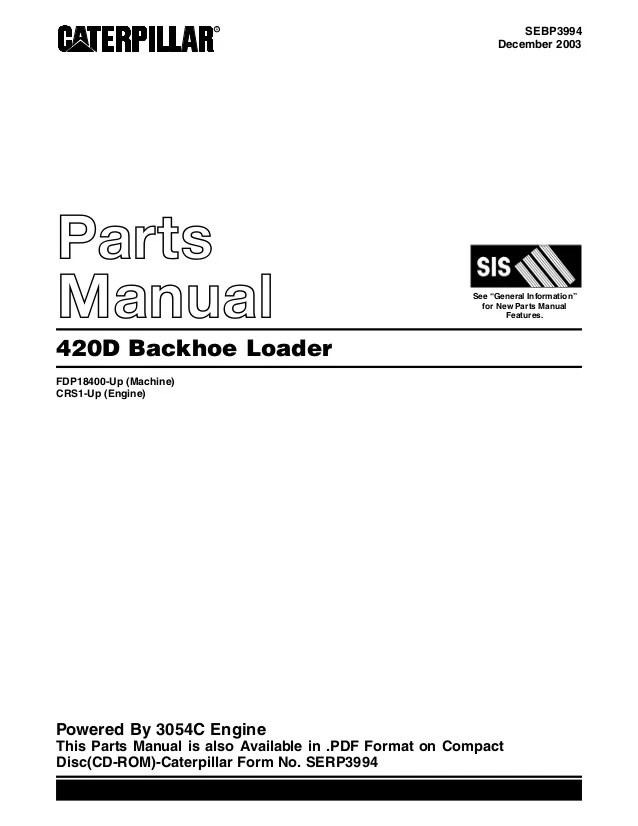 Cat Parts Catalog Pdf