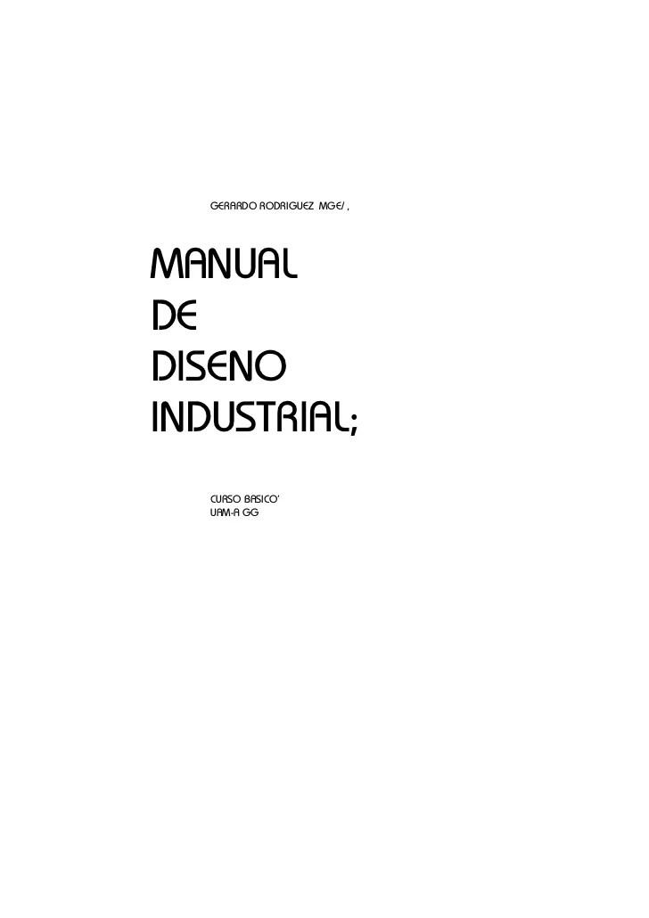Libro Manual de diseo industrial