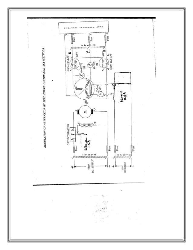 Vector Diagrams And Voltage Regulation