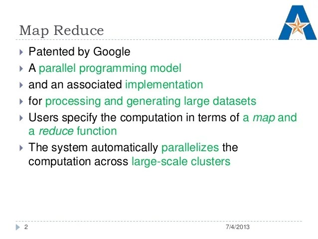 MapReduce : Simplified Data Processing on Large Clusters