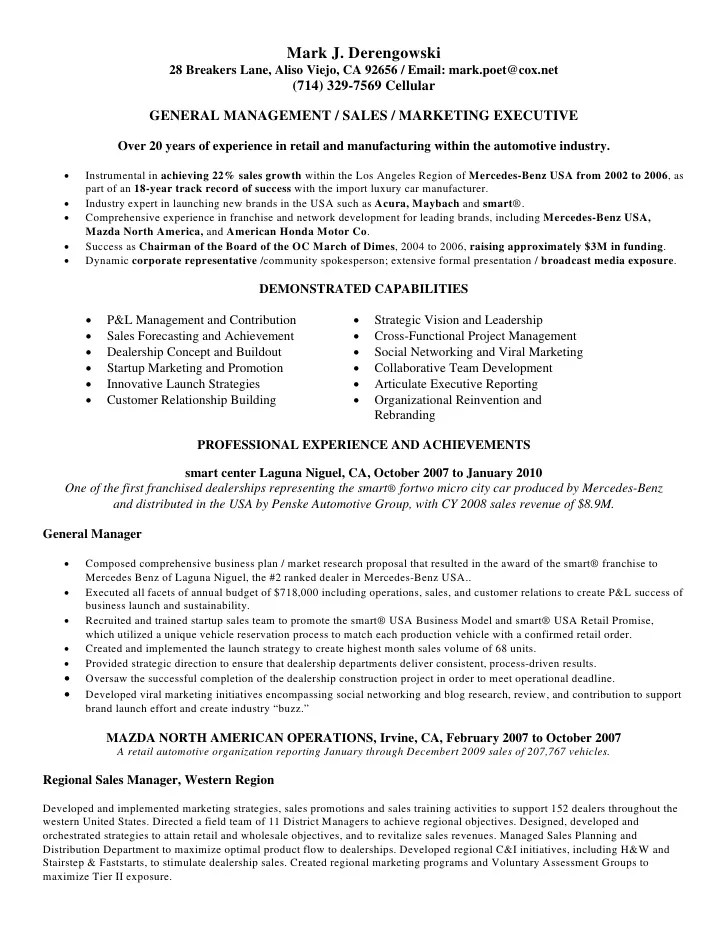 Mark Derengowski Resume