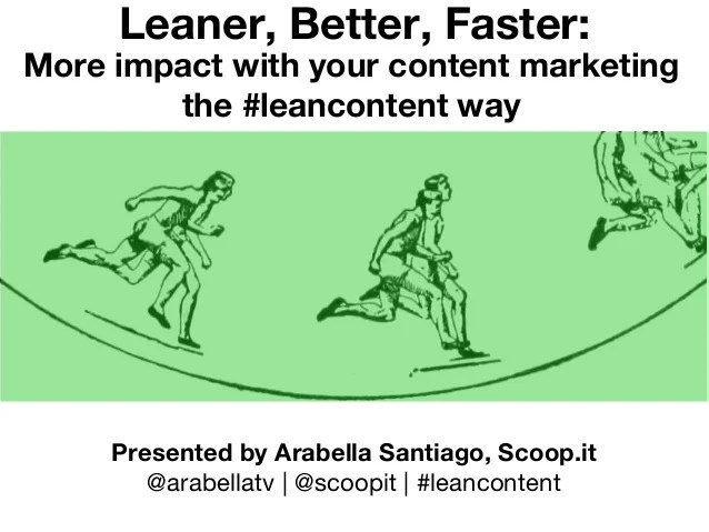 Content Marketing the LeanContent Way