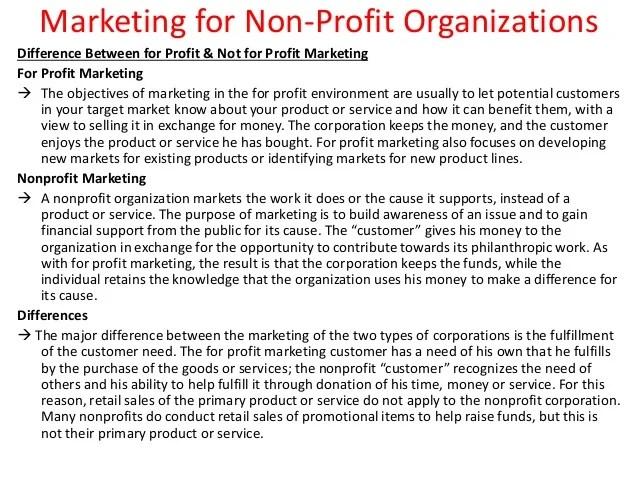 Resume Objective Samples Non Profit