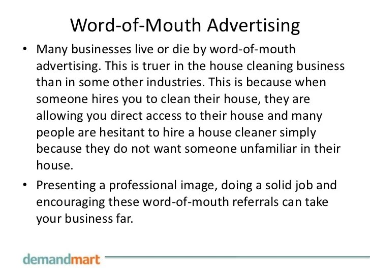 Marketing Your House Cleaning Business