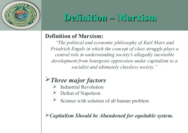 Marxism by Rameez Ahmed