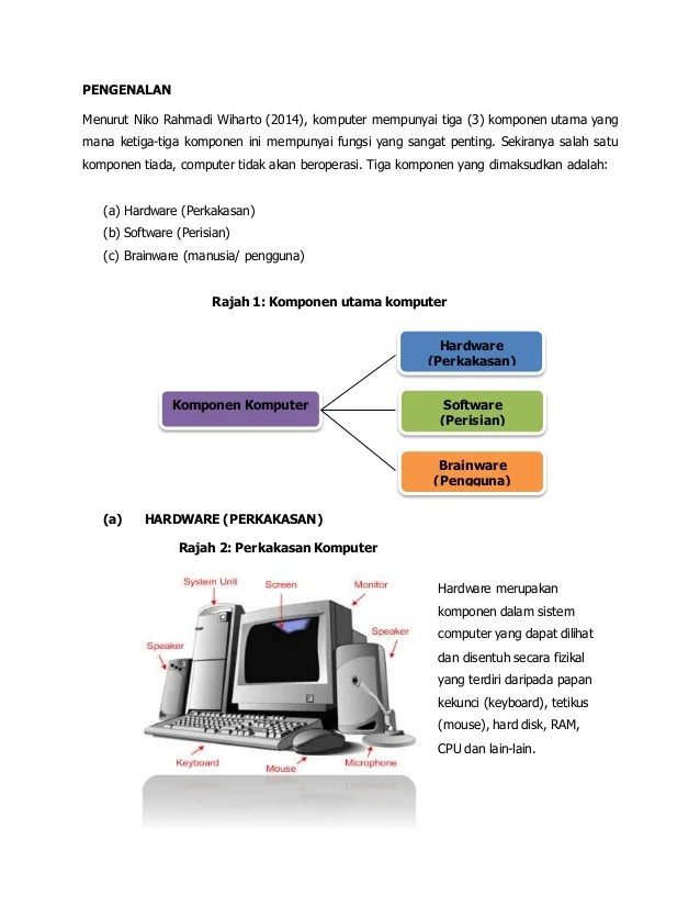 3 Komponen Sistem Komputer : komponen, sistem, komputer, Masalah, Komputer