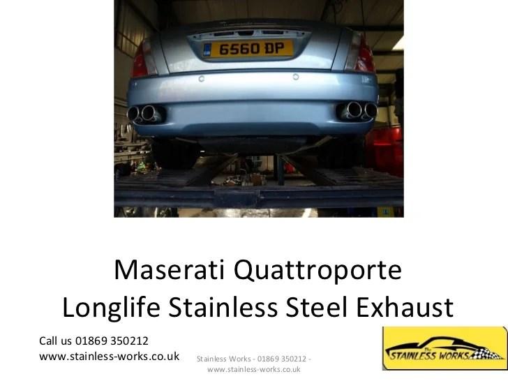 maserati quattroporte stainless steel