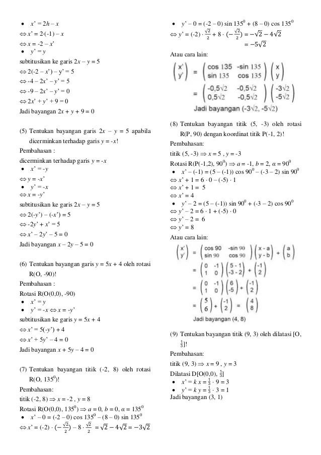 Contoh Soal Transformasi Geometri Rotasi : contoh, transformasi, geometri, rotasi, Contoh, Rotasi