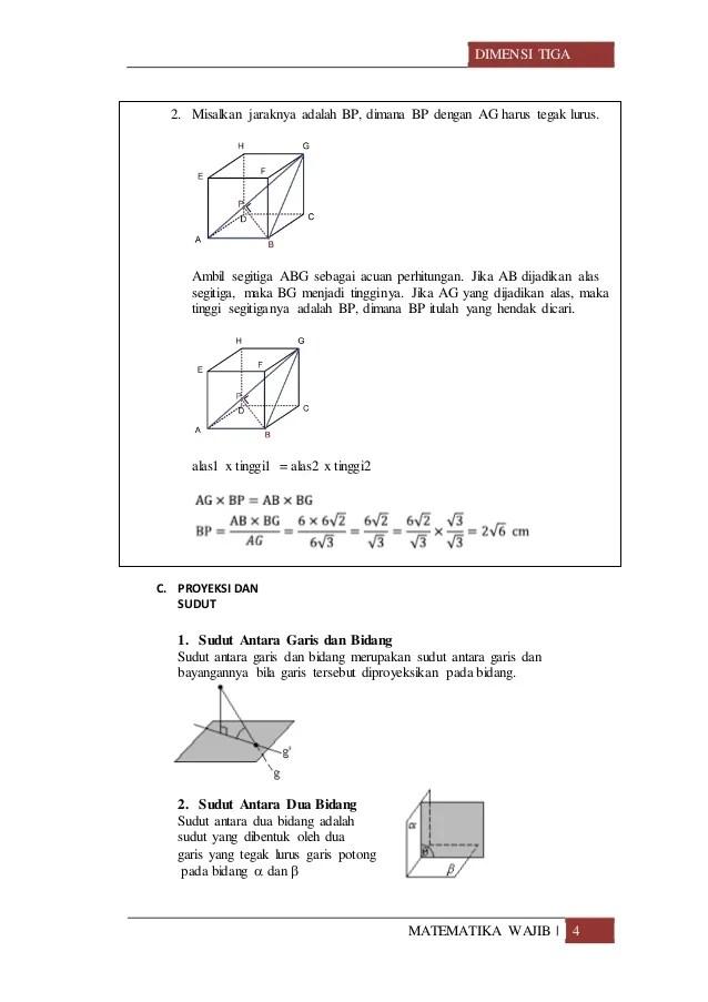 Materi Dimensi Tiga Kelas 12 Kurikulum 2013 : materi, dimensi, kelas, kurikulum, Materi, Dimensi, (SMA)