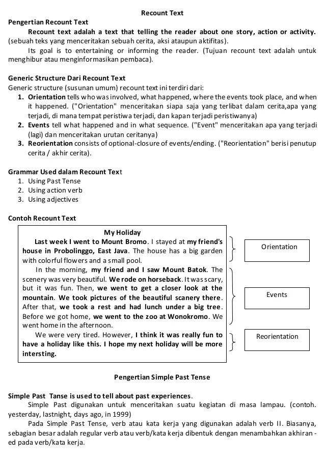 Recount Text: Pengertian, Jenis, Ciri-ciri, Struktur