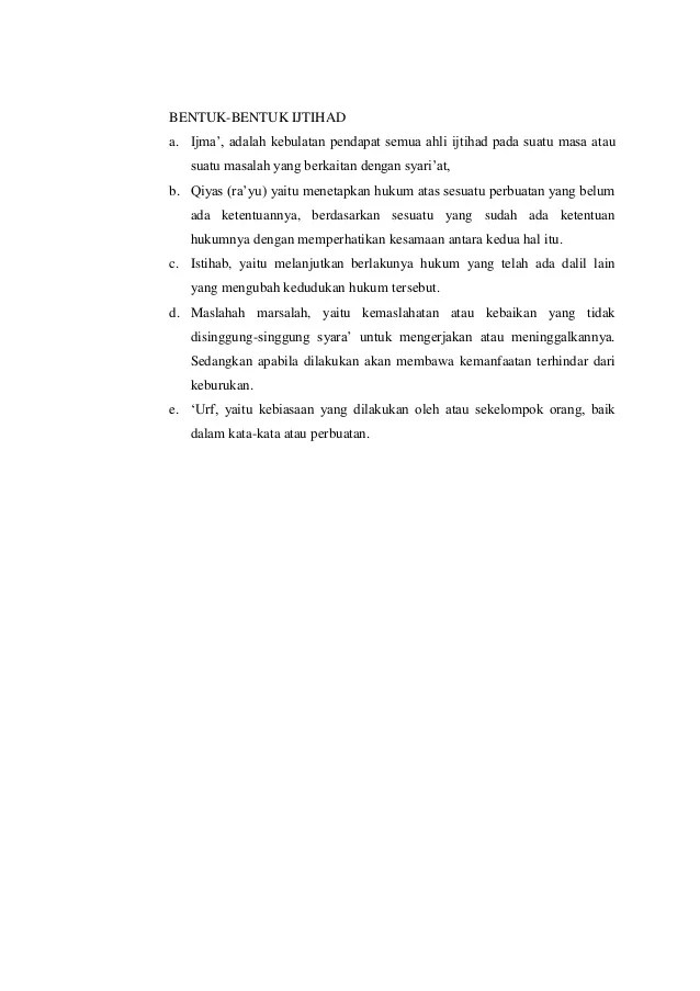 Bentuk Bentuk Ijtihad : bentuk, ijtihad, Materi, Sumber, Hukum_islam