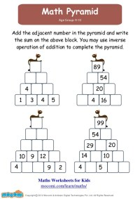 Match Pyramid  Maths Worksheets for Kids  Mocomi.com