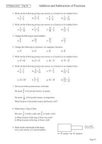 Simplest Form Fraction Worksheets Pdf - fractions ...
