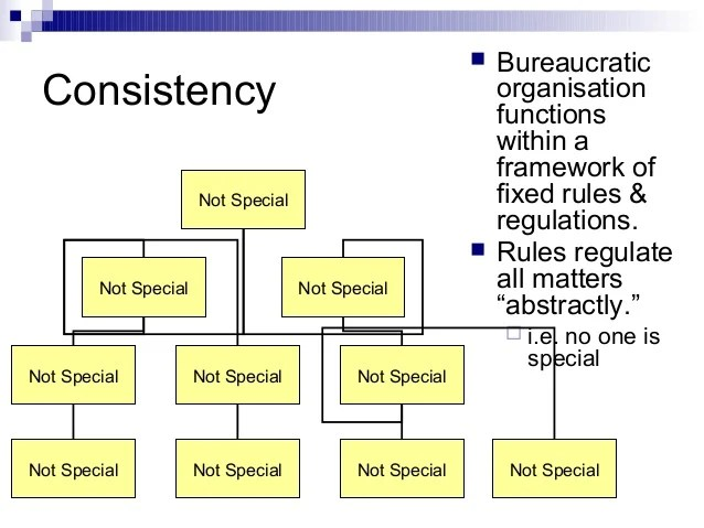 Bureaucratic Organizational Structure Levels Of Authority