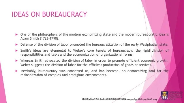 Max webers theory of bureaucracy and its criticism