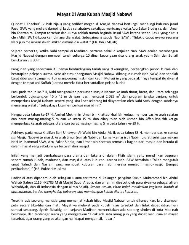 Mayat Diatas Kubah Masjid Nabawi : mayat, diatas, kubah, masjid, nabawi, Mayat, Kubah, Masjid, Nabawi