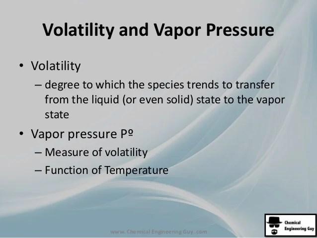 Volatility also mb multiple phase mass balances rh slideshare