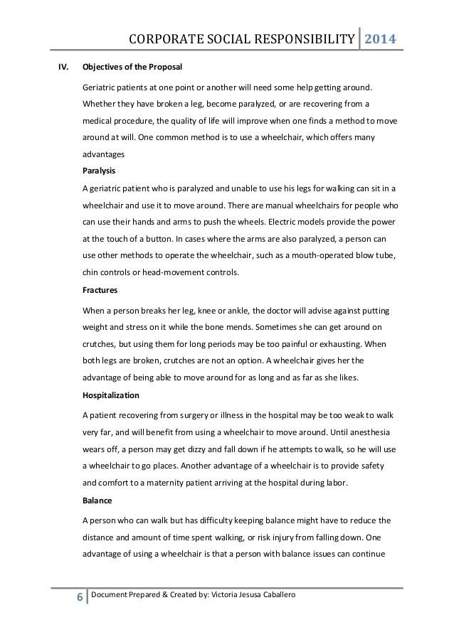 MBA CSR Class Proposal