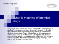 Meaning of promise rings
