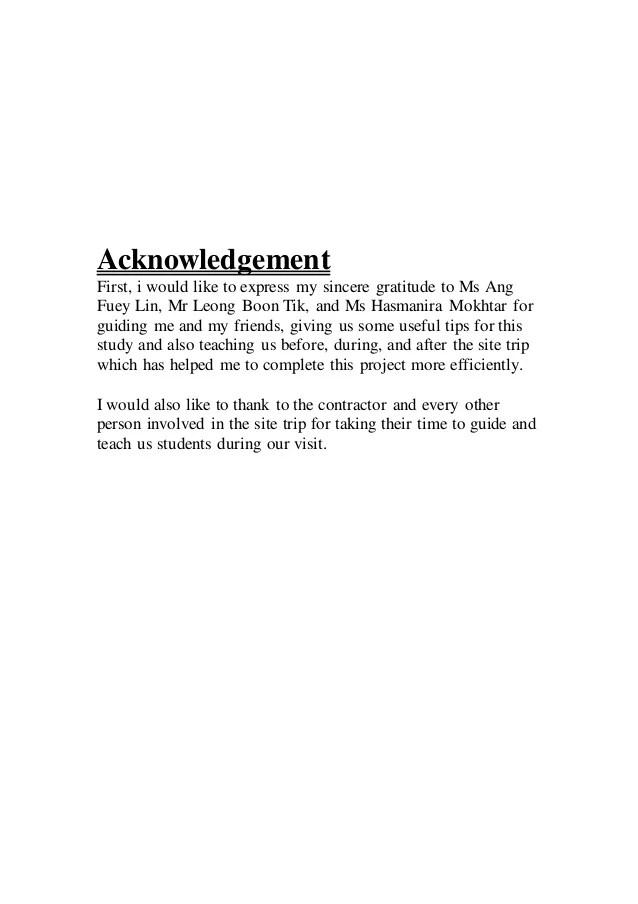 Measurement Assignment Site Report