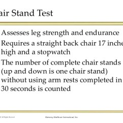 Chair Stand Test Measure Garden Recliner Covers Uk Up With Standardized Assessments