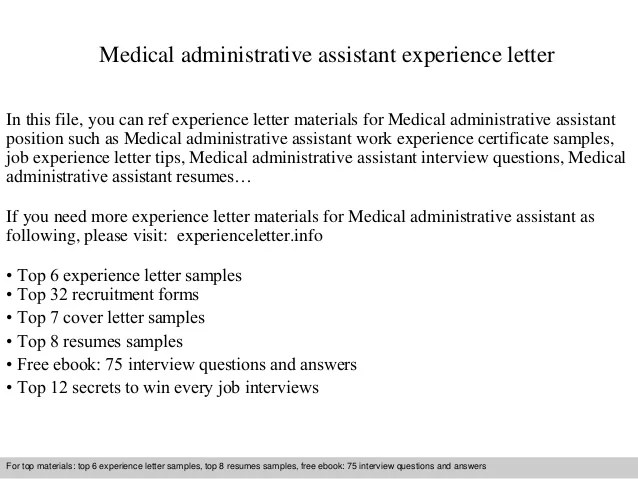 Amazing Cover Letter Examples For Medical Administrative Assistant ...