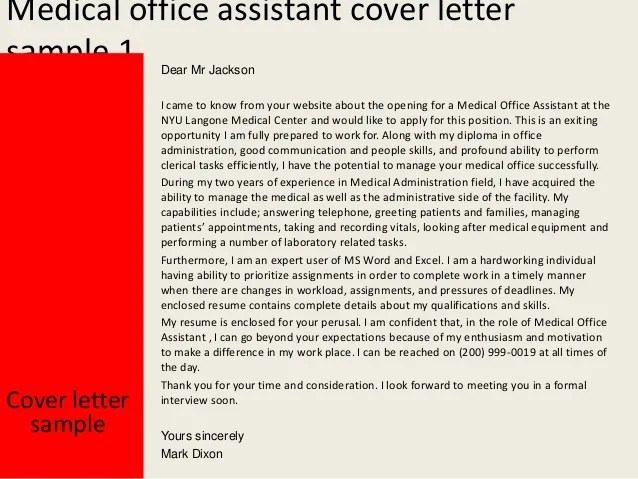 cover letter medical assistant plastic surgery