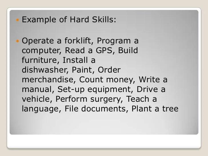 resume soft skills list