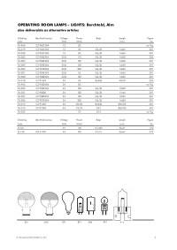 Medical lamp catalogue