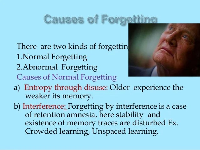 Memory and its types and Causes of Forgetting - PPT