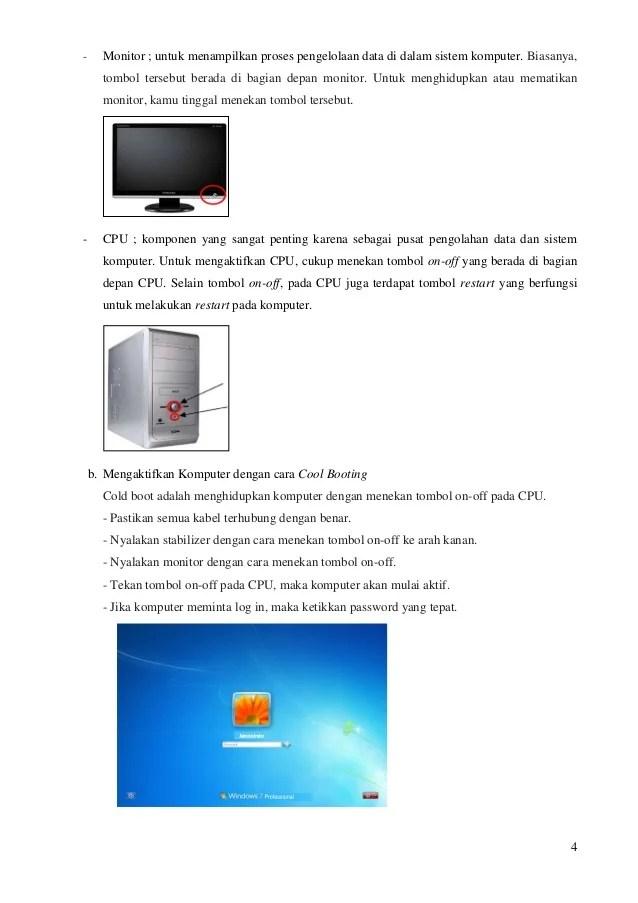 Proses Menghidupkan Komputer Disebut : proses, menghidupkan, komputer, disebut, Materi, Mengaktifkan, Komputer