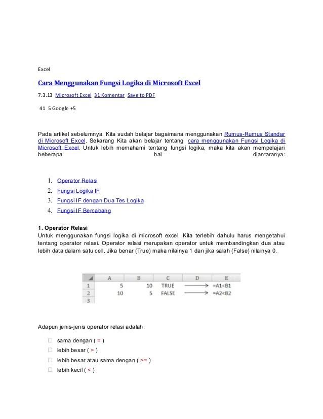 Fungsi Logika Pada Excel : fungsi, logika, excel, Mengenal, Fungsi, Logika, Excel, Dokter, Andalan