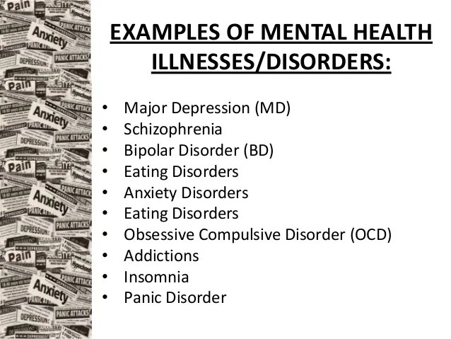 examples of mental health