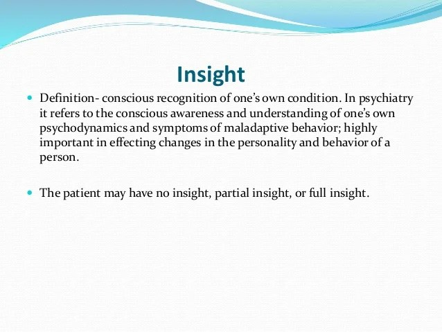 Mental state examination abstract thinking insight and ...