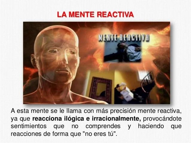 Resultado de imagen para imagenes mente reactiva