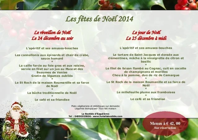Menus De Nol Et Jour De L An Saint Rmy De Provence