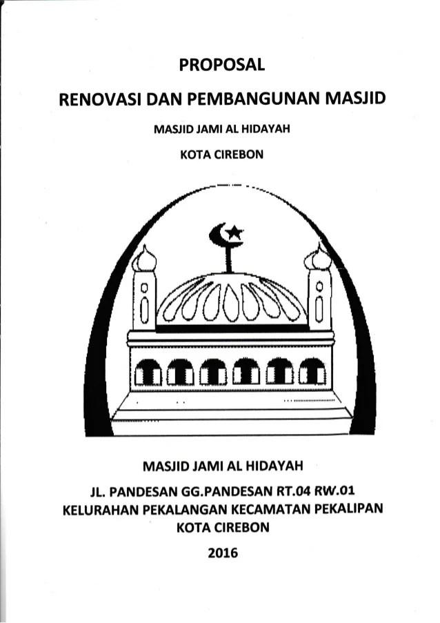 Proposal Pembangunan Masjid Jami Al Hidayah
