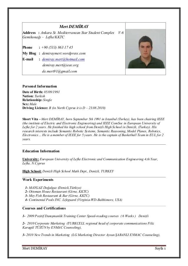 Mert CV English
