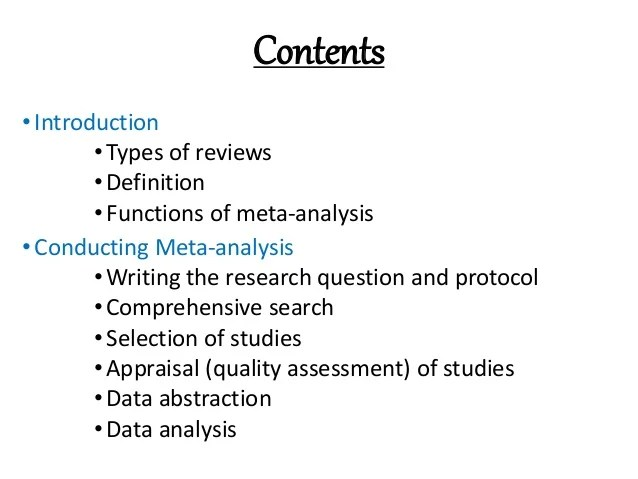 Meta Analysis Made Easy With Example From RevMan