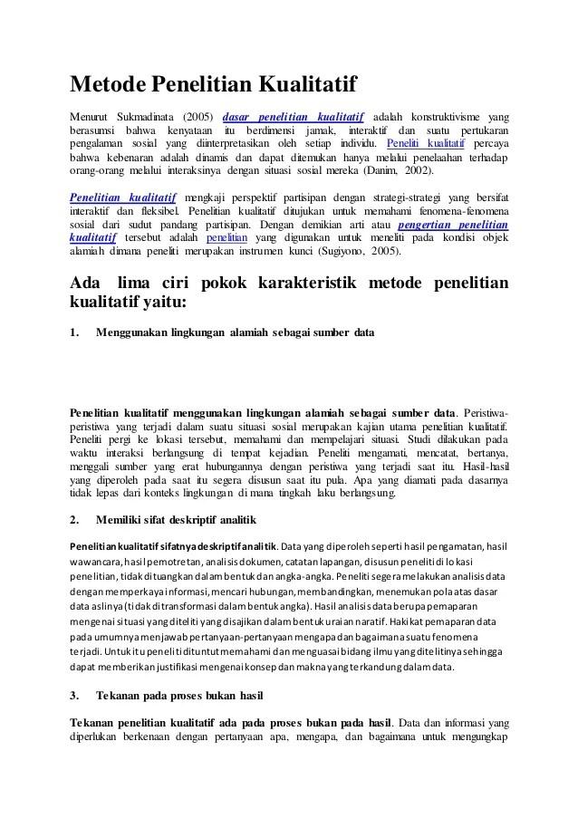 Ciri-ciri Penelitian Kualitatif : ciri-ciri, penelitian, kualitatif, Pokok, Karakteristik, Metode, Penelitian, Kualitatif
