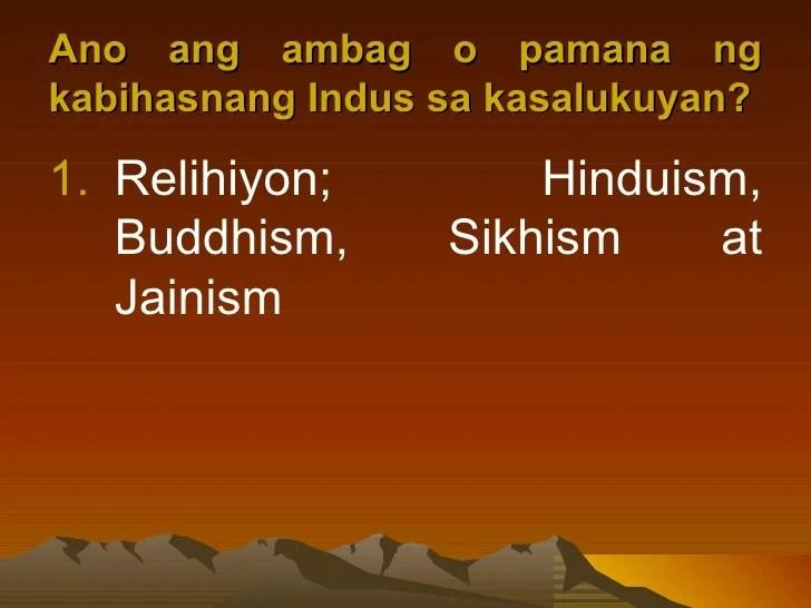 Mga sinaunang kabihasnan sa india
