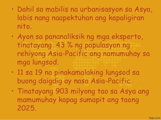 Ang Mga Suliraning Pangkapaligiran Sa Pilipinas Asya At