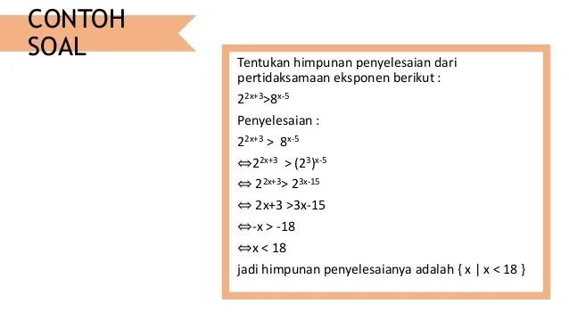 Persamaan Logaritma Dan Pertidaksamaan Eksponen