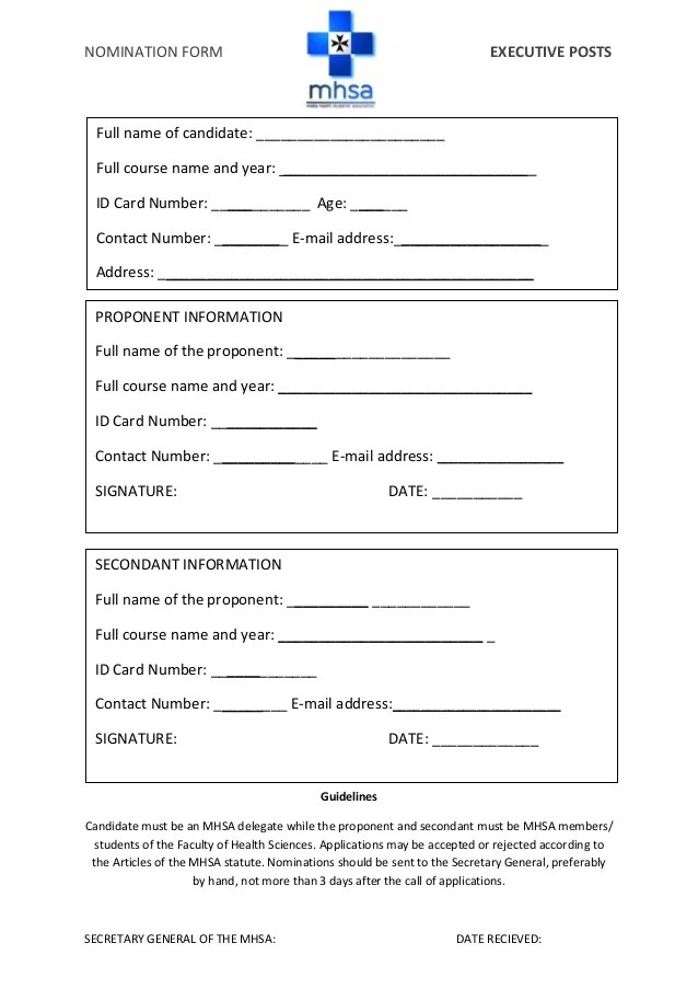 Sample Employee Recognition Form