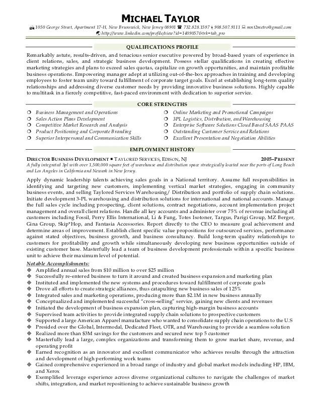 Software And Web Development Industry Resume