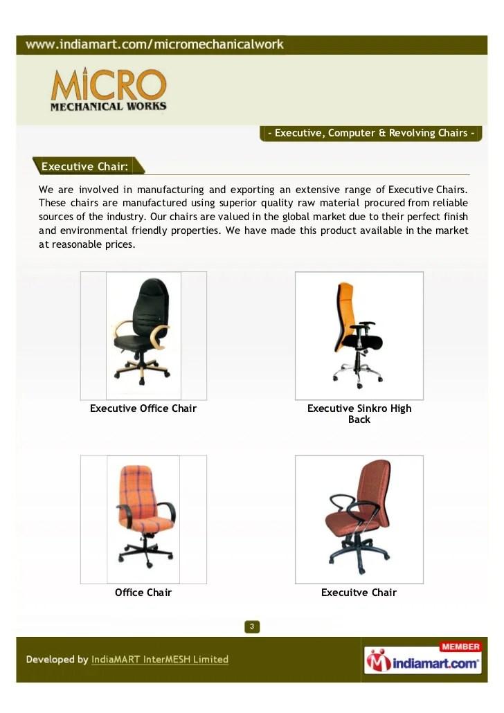 revolving chair vadodara high clearance micro mechanical works executive computer cha 3 chairs