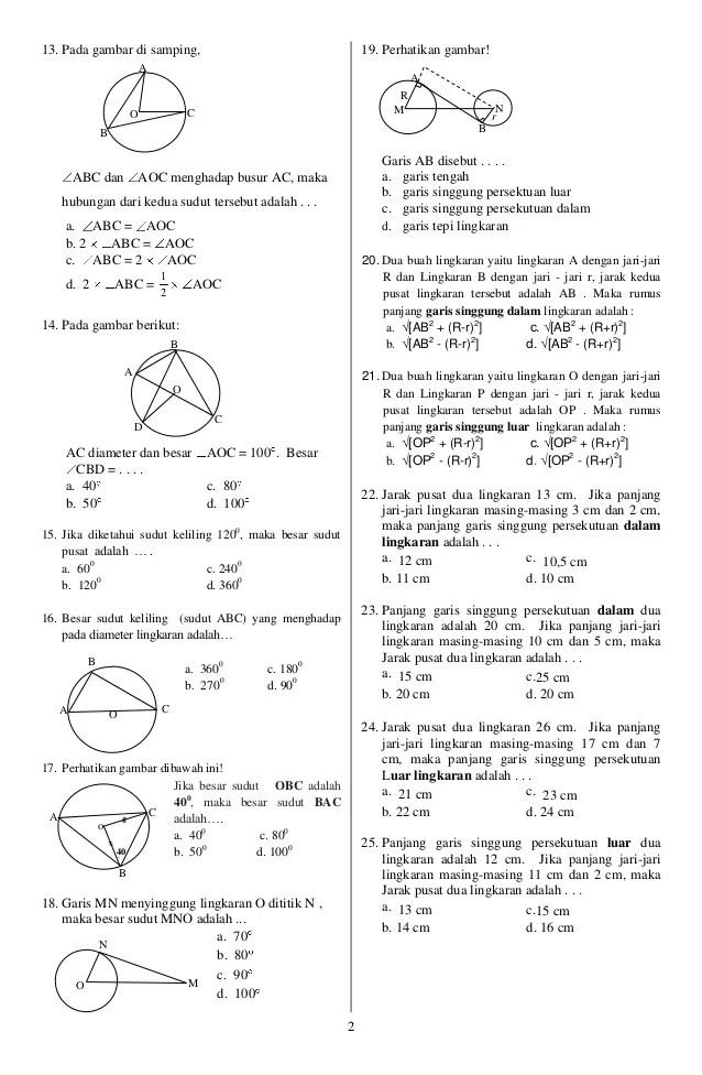 Soal Uts Matematika Kelas 8 Semester 1 Kurikulum 2013 : matematika, kelas, semester, kurikulum, Contoh, Matematika, Kelas, Semester, Kurikulum, Terbaru