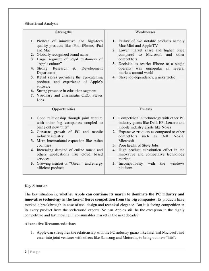 Recommendations For Preparing A Thesis HS Schmalkalden Apple Inc