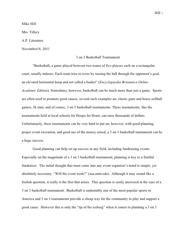 Mike Hill 2012 Senior Project Research Paper 2012