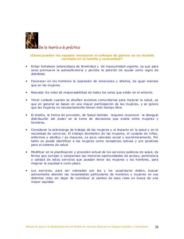 Minsal 2008 Manual De Apoyo A La Implementación Enfoque